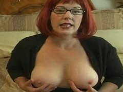 Redhead Mommy Spreads And Tells You To Stroke