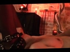 Japanese Femdom. Painful Dungeon Whipping