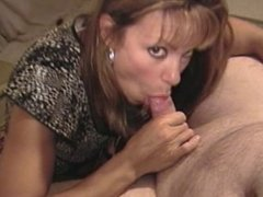 Michelle sucking in stockings