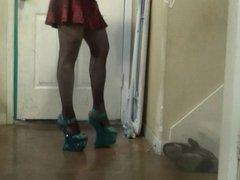 walking with my new heels