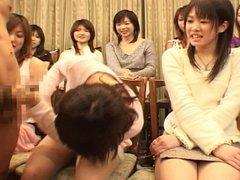 cfnm en grupo con orientales 2