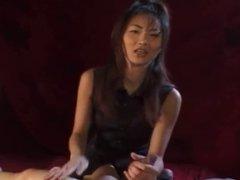 Adorable Japanese Babe Gives a Perfect Handjob