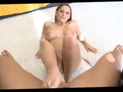 Alison Star playing with cock