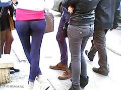 Great Teen ass leggings and thong