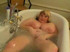 Big Tit BBW Fucked in Bathroom