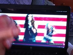stroking to Miley Cyrus Party in the USA