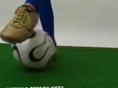 Dutch soccer hottie in pigtails teasing