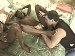 Two Ebony Girls Hungry for White Cock