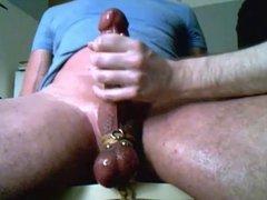 Me edging milking post cum rub trucker buddys big cock