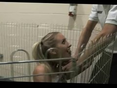 Dirty Brit Slut Anal Fuck In A Cage