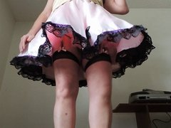 Sissy Ray in Pink Sissy Dress and Pink Petticoat