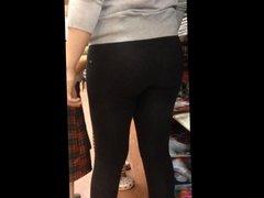 nice ass in black spandex