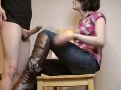 Amateur couple Jeans, Glasses, Boot sex