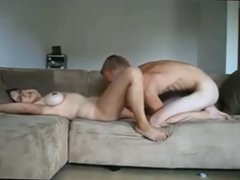 Milf with younger on real homemade