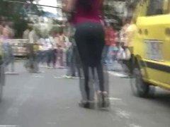 Big Booty Latin Milf Street Strut - 5