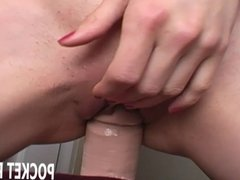 Riding the sybian with a massive attachment