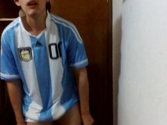 Mexican guy wanking on skype