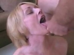 Blond Mature Sucks Fucks and Facialed
