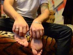 big feet tickle