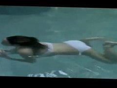thai mother with white bikini