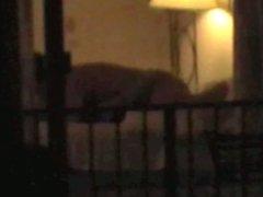 Hi Voyeur couple rim, bj, sex in window
