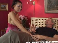 Teen Layla learning how to suck and fuck from milf Ginger