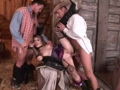 two cowboys and one cowgirl