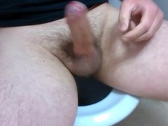 Edging Myself in Public Toilet