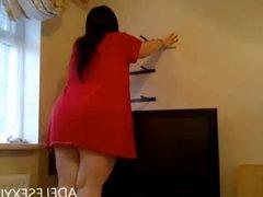 upskirt putting up a shelf by adelesexyuk