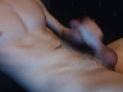 Shower Cum, Big Young Cock Cums A Lot