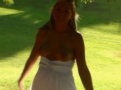 masturbating in a park