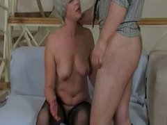 Mature old woman In Stockings Gets Fuck