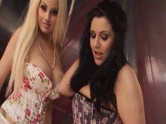 British slut Katie gets fucked in a FFM threesome