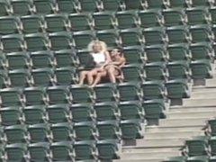 Couple Having Sex At The Stadium