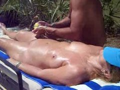 Nude Massage Outdoors