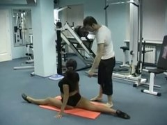 Athletic Brunette - Flexible Gym Fuck