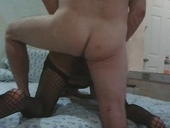 Latina Wife Anal With Fishnet lingerie