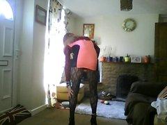 crossdresser in pink