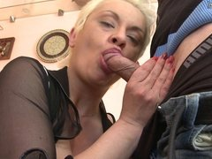 Mature aunt fucked in ass by young boy