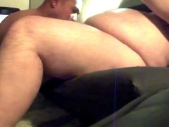 Couch Blowjob for my Big Bi Bull Bear