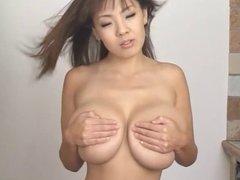 Natural huge boobs asian in bikini