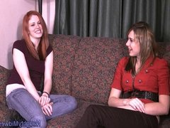 Olivia Redd - hot new redhead gets auditioned by Aubrey Lee