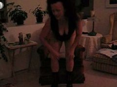 Crotchless Panties on Chair