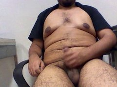 Latin chubby, jerk belly cum