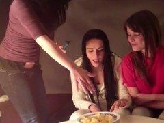 Spanish Girls Spitting Chips
