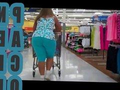 Milf Latina in Blue Expandex at Walmart