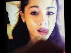 Ariana Grande cumshot facial