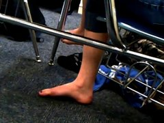 Candid College Feet During Exam