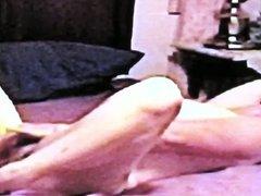 Mature Nude Woman Masturbating On Bed