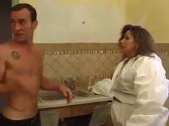 BBW French fucks the plumber